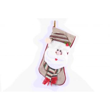Decoración interior de calcetín navideño