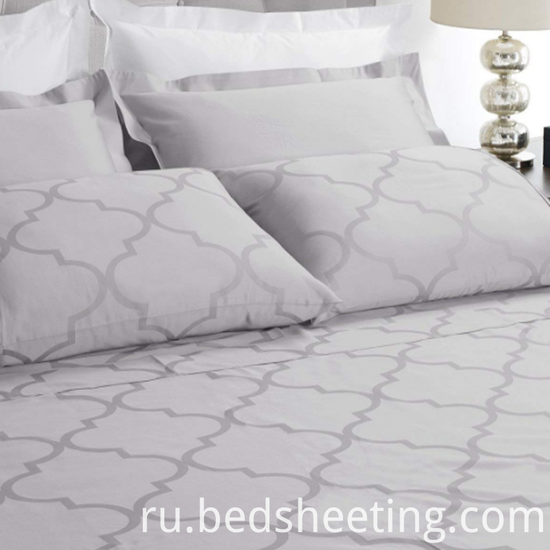 Cvc 5050 Jacquard Sheet Set Silver