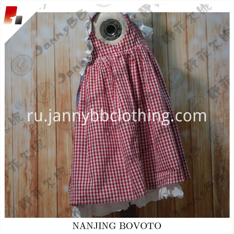 red check dress