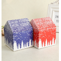 Custom Mini Unique Paper Christmas House Gift Box