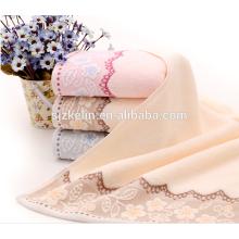 design agradável dobby barato toalha facial de algodão
