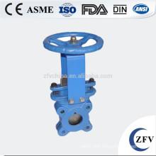 DN100 Knife-shaped pn6 slurry gate valve