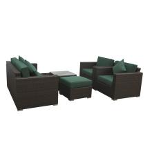 Conjunto de sofá europeu com conjunto de fezes de tabela