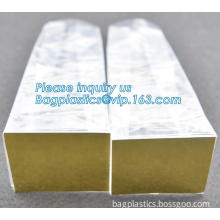 Cookies square bottom cellophane bag, plastic bag with hard card, Square Block Flat Bottom Pouch Bag with Zipper