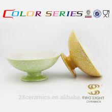 Vente en gros des articles ménagers usagés à vendre, bol de dessert en céramique de poterie italienne