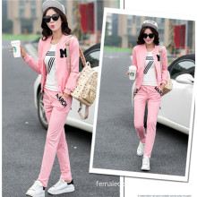 Spring and Autumn new female Korean sweater embroidered two-piece leisure suits