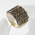 New Fshion Gold Color Charm Rhinestone eyes zinc alloy Rings for Women