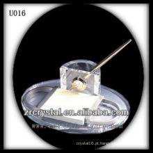 Suporte de caneta de cristal K9 com relógio