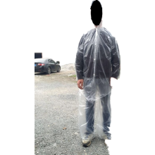cheap PE raincoat suit with shoes