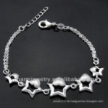 Heiße Verkauf Art und Weise 925 silberne Charmearmbänder für Mädchen 2013 BSS-020