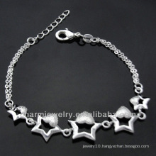 Hot sale Fashion 925 silver charm bracelets for girls 2013 BSS-020