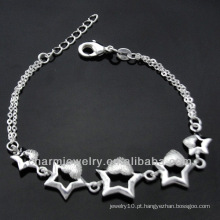 Venda quente 925 pulseiras de prata do encanto para meninas 2013 BSS-020