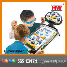 High Quality Plastic Kid's 3D Game Table Foosball Air Hockey Toy