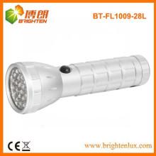 Fabrik Versorgung Outdoor Notfall verwendet Aluminium Metall 28 LED kostenlose Taschenlampe, 28 LED Taschenlampe