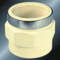 Water Supply Upvc Female Thread Adaptor Steel Ring
