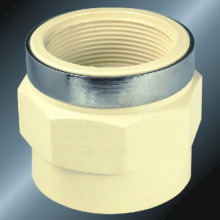 Water Supply Upvc Female Thread Adaptor Steel Ring