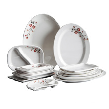 New melamine tableware environmental protection type A5 melamine hot selling products tableware dishes cup spoon set