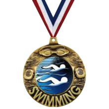 Bottom price for Gold Plating Metal Medals Custom High Quality Swimming Pendant Medals export to India Exporter