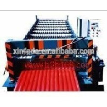 Roll forming machine for corrugated steel sheet