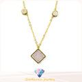 2016 collar de moda 925 para las mujeres CZ collar blanco N6780