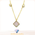 2016 Fashionable 925 Necklace for Women White CZ Necklace N6780