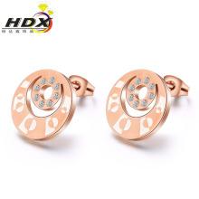 Pendientes de la joyería del acero inoxidable Pendientes del perno prisionero del oro de la joyería de la manera (hdx1148)
