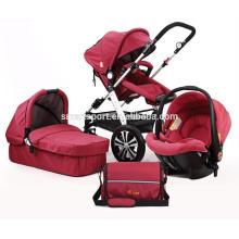Cochecito de bebé con cinturones de seguridad de cinco puntos Calidad Asegurada