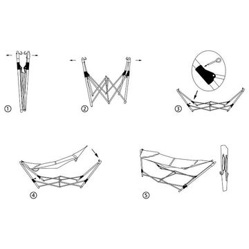 Folding Balcony Swing Chair Camping Hammock With Frame Stand China