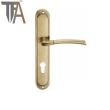 Aluminum Lever Iron Plate Door Handle TF 2515