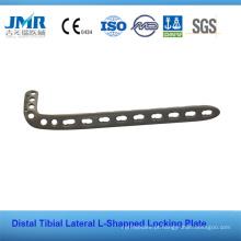 Distal Tibial Lateral em forma de L placas de bloqueio Implante ortopédico