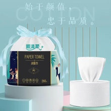 2 Rolls of Disposable Face Washing Towel Soft Cotton Towel Wet and Dry Use Towel Facial Tissue