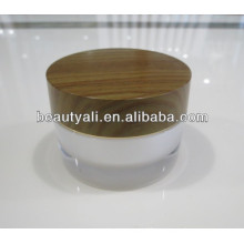 Doble pared de acrílico frasco de madera 2ml 5ml 10ml 15ml 30ml 50ml 100ml