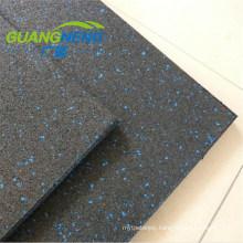 Non Skid Basketball Court Rubber Floor Tile/No Odor Shock Absorption Rubber Tiles