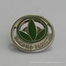 Perno personalizado de la solapa del logotipo del trébol de oro (GZHY-BADGE-024)