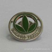 Personalizado Golden Trefoil Logo Lapel Pin (GZHY-BADGE-024)