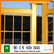 Yellow Powder coated Security Temporary Fence
