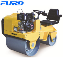 Rodillo de compactación pequeño de dos ruedas con sistema hidrostático