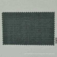 tecido de lã merino verde e azul escuro penteado para terno sob medida