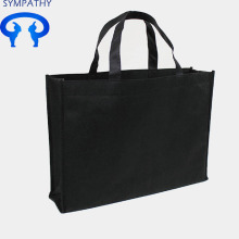 Customized large capacity black non-woven bag bags shopping bags