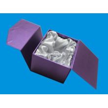 Caja de papel de regalo de alta calidad púrpura