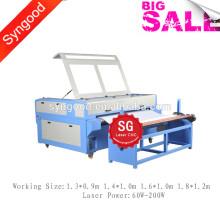 Jeans Denim Laser Gravure Machine SG1390 avec alimentation automatique