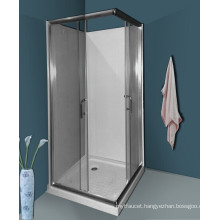 Bathroom Square Simple Shower Room with Backboard (A03003)