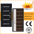 Турецкий Стиль ламинированный МДФ стальные двери (СК-A203)
