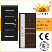 Puerta de acero de armadura de acero con precio barato Sc-A203