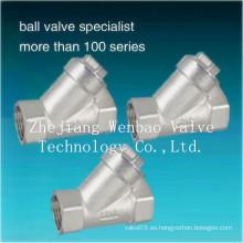 Válvula de filtro de filtro de acero inoxidable de fundición de inversión roscada