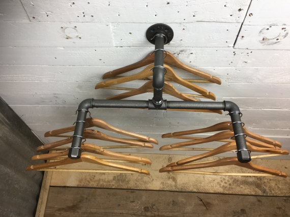 Coat Clothes Rail from industrial pipework plumbing fittings