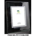 Transparent Glass Beads Photo Frame