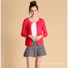 Spring women pure cashmere cardigan knitwear