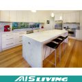L-Shape Glossy Kitchen Cabinets with Kitchen Island (AIS-K257)
