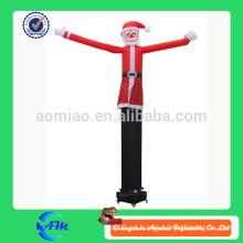 Navidad santa claus alta calidad publicidad aire bailarina inflable aire tubo